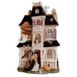fitz floyd halloween harvest haunted house cookie jar