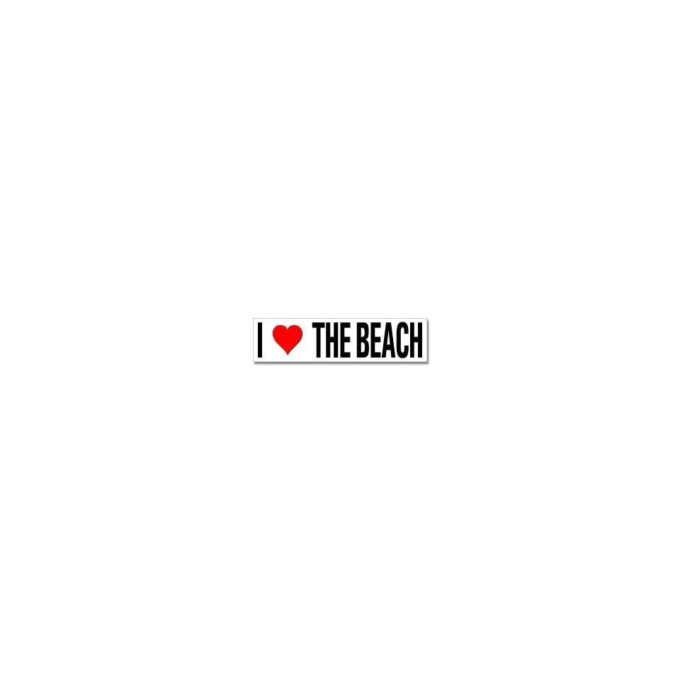 I Love Heart The Beach   Window Bumper Stickers