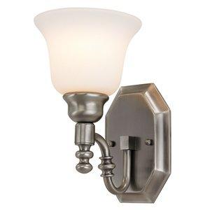 Bel Air Lighting 1-Light Antique Nickel Bathroom Vanity Light
