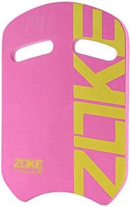 スイムキックボード、水泳キックボードの大人、子供プールトレーニングエイドフロートボード、湾曲したハンドル、泡安全エイドスイミングブイ (Color : Pink)