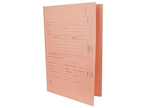 AMZfiling US Trademark Application Tri Fold File Folders- Compatible with All-State Legal, Pink (50/Carton)