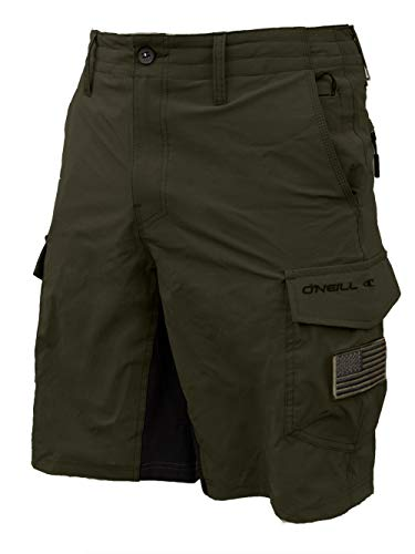 O'NEILL Men's GI Jack Traveler Cargo Pocket Hybrid Stretch Walk Short, 21 Inch Outseam [Extended Sizing - Up to Size 48]
