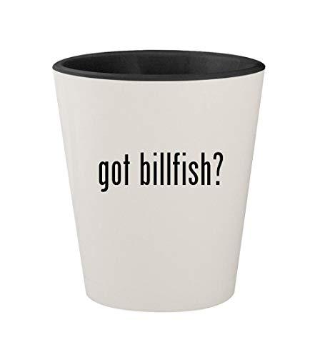 got billfish? - Ceramic White Outer & Black Inner 1.5oz Shot Glass (Boat Asv Shoes Billfish)
