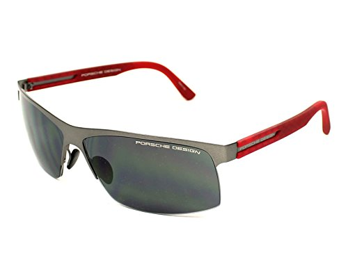 Porsche Designs Sunglasses A Gun, Red Gray Blue 64 13 130