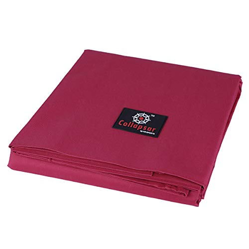 7/8/9FT Heavy Duty 600D Polyester Canvas Billiard Pool Table Cover(7 Colors Available) (Wine Red, 9-Foot)