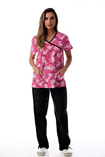 Medical Uniform Nursing Scrubs Hospital - Just Love Nursing Scrubs Set for Women Print Scrubs 1311W-10299-M