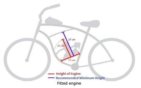 80cc 2 Cycle Engine Motor Kit for Motorized Bicycle Bike (80cc 2 Cycle Engine Motor Kit)
