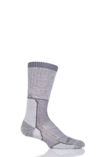 (Men's and Ladies' 1 Pair Thorlo Outdoor Explorer Walking Socks - Gray Sky 4-6 Unisex)