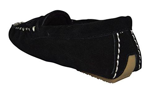 Mollettine Da Donna Casual Ashlynn In Pelle Scamosciata Nera / Pantofola Pantofola Nera