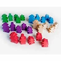 Mayday Games Agricola Meeples -25 Deluxe Wooden Farmer Set