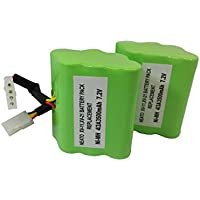 Neato XV-11 Vacuum Cleaner Battery 945-0005 (7.2v 3500 mAh 25.2 Whr) Battery - Replacement For Neato Robotics 945-0005, Set of Two
