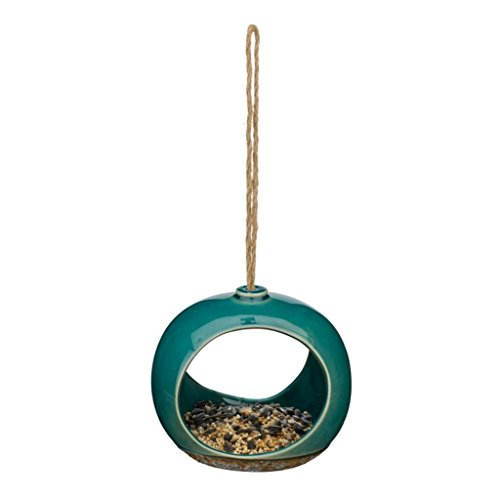 (Regal Arts & Gift Ceramic Bird Feeder 5.75 Inches X 5 Inches X 5 Inches Porcelain - Small Drop )