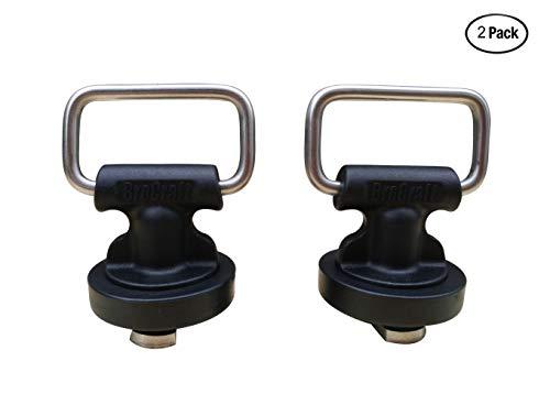 Brocraft Kayak Track Mount Horizontal & Vertical Tie Downs/Kayak Track Tie Down Eyelet-2 Pack