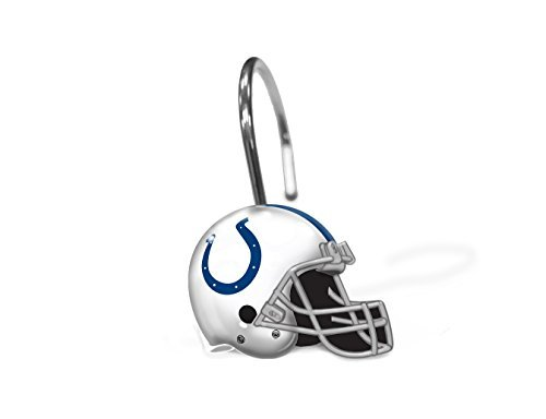 Indianapolis Colts Shower Curtain - Northwest NOR-1NFL942000008RET Indianapolis Colts NFL Shower Curtain Rings