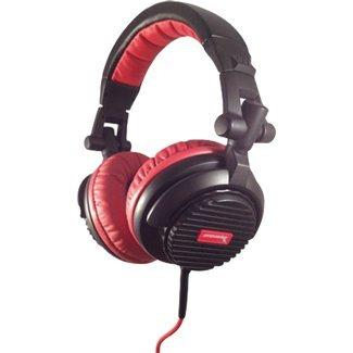 Soniq USA SH900 Thrust DJ Full Size Over-Ear Headphones Black/Red