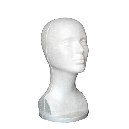 Styrofoam Wig Stand (Mannequin Head,SMTSMT 2017 Female Styrofoam Hat Glasses Hair Wig Mannequin Stand Display Head Model Chest)