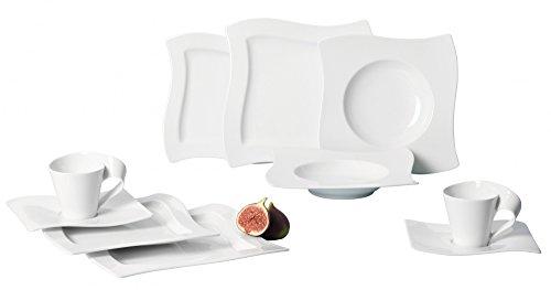 Villeroy & Boch New Wave 30-Piece Basic Dinnerware Set, White
