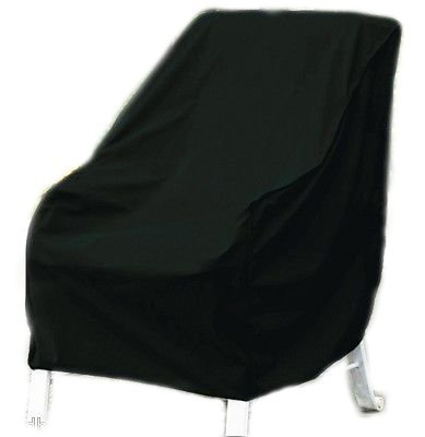 JTW Deluxe Heavy Duty Vinyl Outdoor Chair Cover double stitched seams Resistant to sunlight, heat, rain roughest weather (Size: 34''H x 36''W x 36''L) Black color