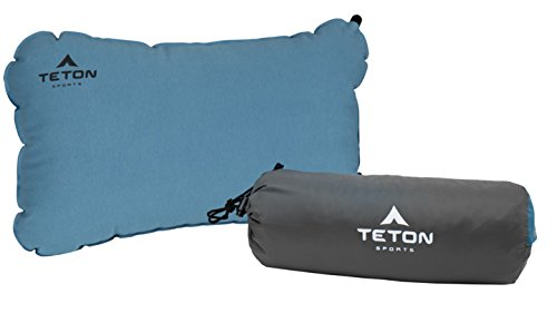 TETON Sports ComfortLite Self Inflating Organic Cotton Pillow; Ultralight Pillow Perfect for Camping, Travel, Picnic, Hiking, or Backpacking