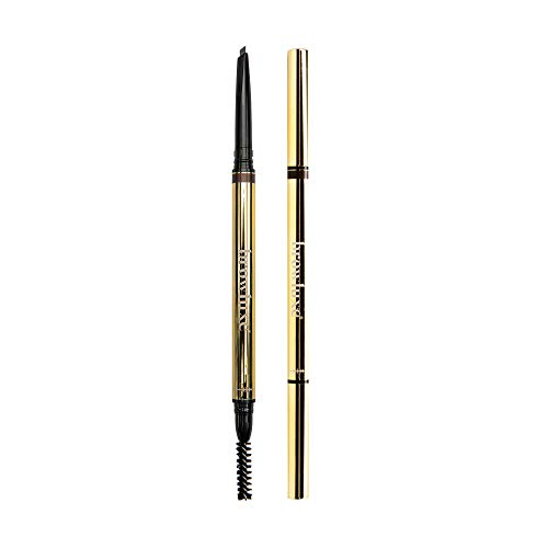 browluxe Precision Brow Pencil and Shaper | Ash Brown Eyebrow Pencil for Blondes & Brunettes | Waterproof Eyebrow Pen and Eye Brow Brush | Smudge Proof Eyebrow Pencil