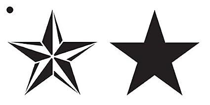 Amazon.com: Barn Star Stencil by StudioR12 | Rustic Country Pattern ...
