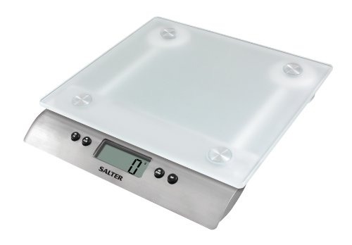 Salter Frosted Glass Digital Kitchen Scales - Electronic Cooking Scale...