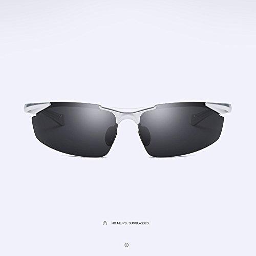 De Antideslumbrante amp;HA para Polarizadas HD Gungray Sol Gafas Hombre Al De Z Conductor Conduciendo Gafas Bordes Sol Sin Gafas MG Deportivas Gafas Blackgray qwP6d
