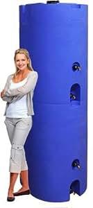 320 Gallon Capacity Emergency Water Storage Tanks (2 Tanks: 160 Gal Ea) - BPA Free, Portable, Food Grade Plastic - Survival Water Prepared Supply