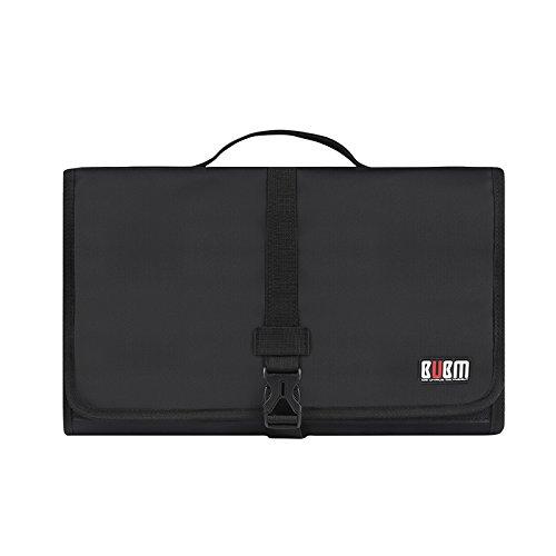 BUBM Vacuum Cleaner Attachment Tool Caddy- Hanging Brush Tool Kit Holder Storage Bag-Black