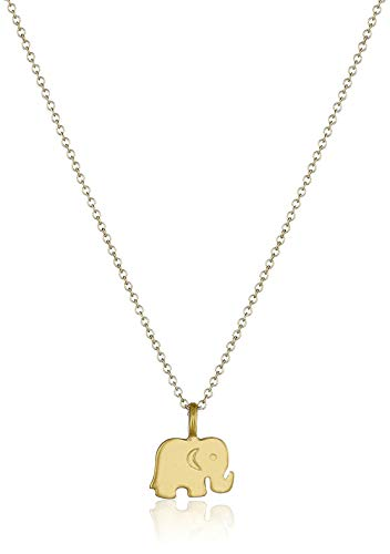 (LOSOUL Good Luck Elephant Pendant Necklace Sister Gift Friends Gift for Women,Gold)