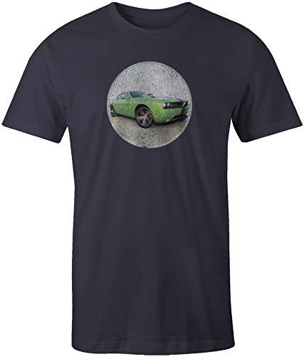 Dodge Challenger Short Sleeve T-Shirt Vintage Navy