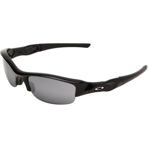 Oakley Men's Flak Jacket Iridium Sunglasses,Jet Black Frame/Black Lens,One - Polarized Oakley Jacket Sunglasses Flak