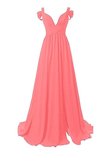 Women's Party Watermelon Long Prom BRL Chiffon Dress Gowns A MALL Line TwAx5PUq