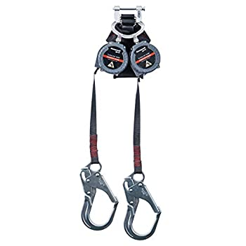 Image of Home Improvements Miller TurboLite Edge MAX Smooth Edge 9-Foot Twin Personal Fall Limiter with Aluminum Locking Rebar Hooks (MFLEW2-12/9FT)