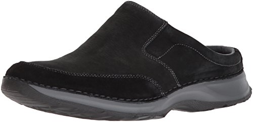 Rockport Leather Clogs - Rockport Men's Rocsports Lite Five Clog- Black Leather-10 W