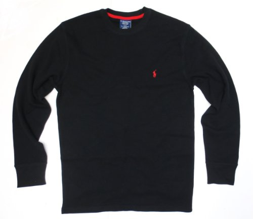 (Polo Ralph Lauren Men's Big & Tall Thermal Shirt Long Sleeve Soft and Light (Polo Black, 3XB))