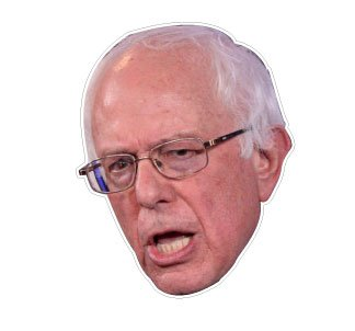 Bernie sanders face cut out Decal 4.5
