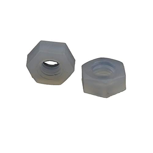 100PCS Nylon Hex Replacement Plastic Nuts (M2.5)