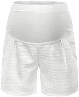 LUXISDE Women's Maternity Summer Stretch Wear Pregnant Women Lace Safety Shorts