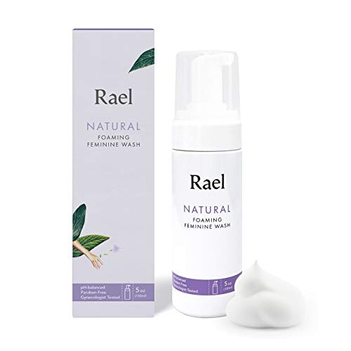 Rael Natural Feminine Cleansing Wash - Foaming Wash, pH-balanced, Sensitive Skin, Light&Fresh Scent, Daily Cleansing use, Natural ingredients (5oz, 1Pack) (Best Natural Feminine Wash)