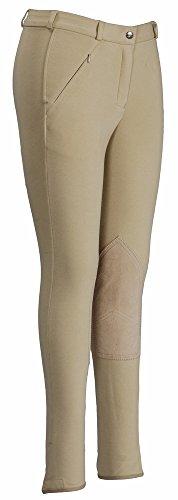 TuffRider Ladies Ribb LowRise Long Breeches  Light Tan 24 EU (Ribb Jodhpurs Rise Low)