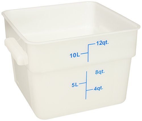 Winco Square Storage Container, 12-Quart, White (Square Quart 12 Containers)