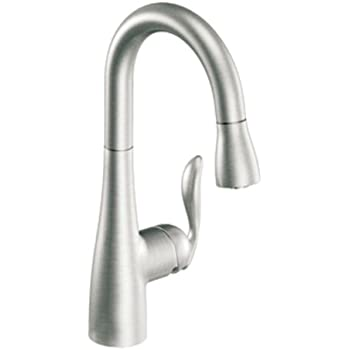 Moen 5995csl Arbor One Handle High Arc Pulldown Bar Faucet