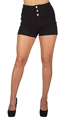 U-Turn 3004 Colombian style Sexy Stretch Moleton Butt lift High-Waist Shorts