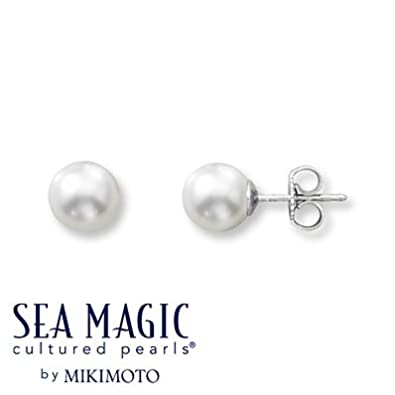 0c6548551faf8 Amazon.com: Mikimoto Cultured Pearl Earrings 14K White Gold: Jewelry