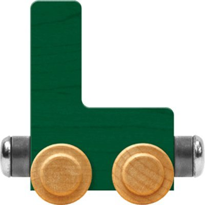 Maple Landmark NameTrain Bright Letter Car L - Made in USA (Green): Toys & Games