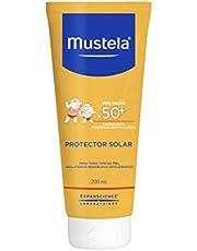 Mustela Bebê Protetor Solar Infantil Loção Rosto e Corpo FPS 50+, sem perfume e álcool, com ativos naturais e patenteados