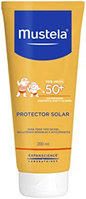 Protetor Solar Mustela FPS 50+ 200 ML, Mustela Solares, Amarelo, 200Ml