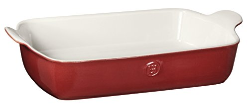 Emile Henry Made In France HR Modern Classics Large Rectangular Baker, 13 x 9 inch, Red