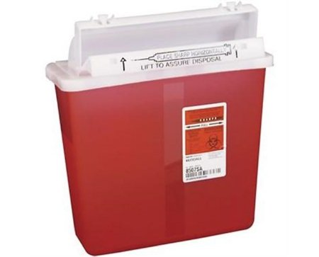 8507SA- Container Sharpstar In-Room Mailbox Lid Red 5qt Ea by, Kendall Company (1)